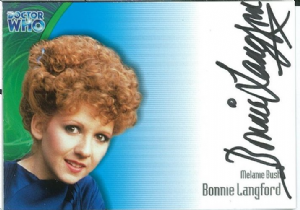 Doctor Who BONNIE LANGFORD as Melanie Bush AUTOGRAPH CARD AU12, Strictly Ink -  10647